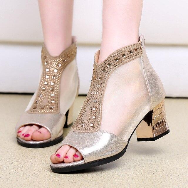 e9a9f9e408aa8 Bling New Summer Fashion High Platform Sandals Women Crystal Casual Ladies  Shoes 6cm High Heels Plus Size 42 Tenis Feminino