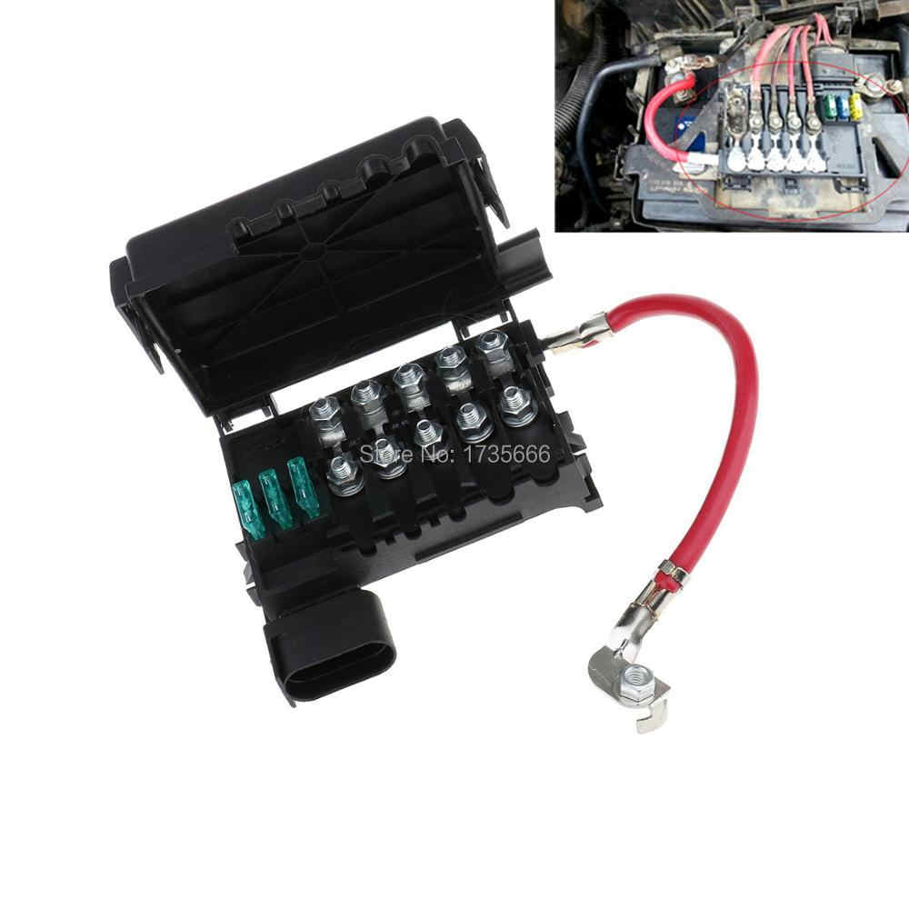 new auto car fuse box battery terminal for vw beetle golf bora jetta city  1j0937550a