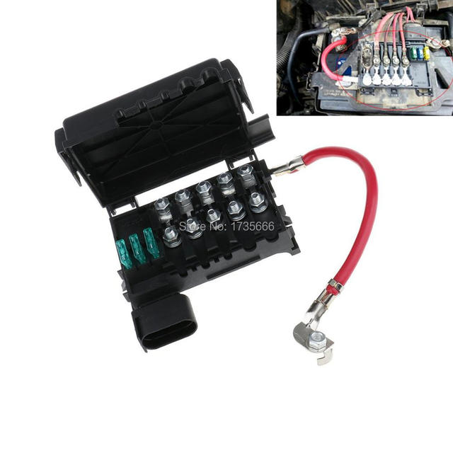 us $12 03 14% off new auto car fuse box battery terminal for vw beetle golf bora jetta city 1j0937550a in fuses from automobiles \u0026 motorcycles on Car Box Fuse Madza62004