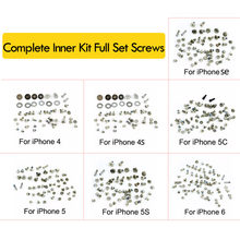 Screws Full Screw Set for iPhone 4 4S 5C 5S 5G 6G 6s 6 7 7P 8 8 plus X Repair bolt Complete Kit Replacement Parts(China)