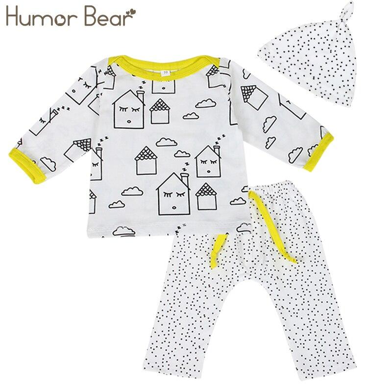 c90411570 Humor Bear Baby Clothes Autumn Baby Boy Clothing Set Boys infant cartoon  House Long Sleeve T