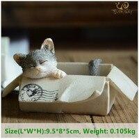 Everyday Collection easter kawaii cat home decoration accessories animal figurines maneki neko sculpture miniature fairy garden