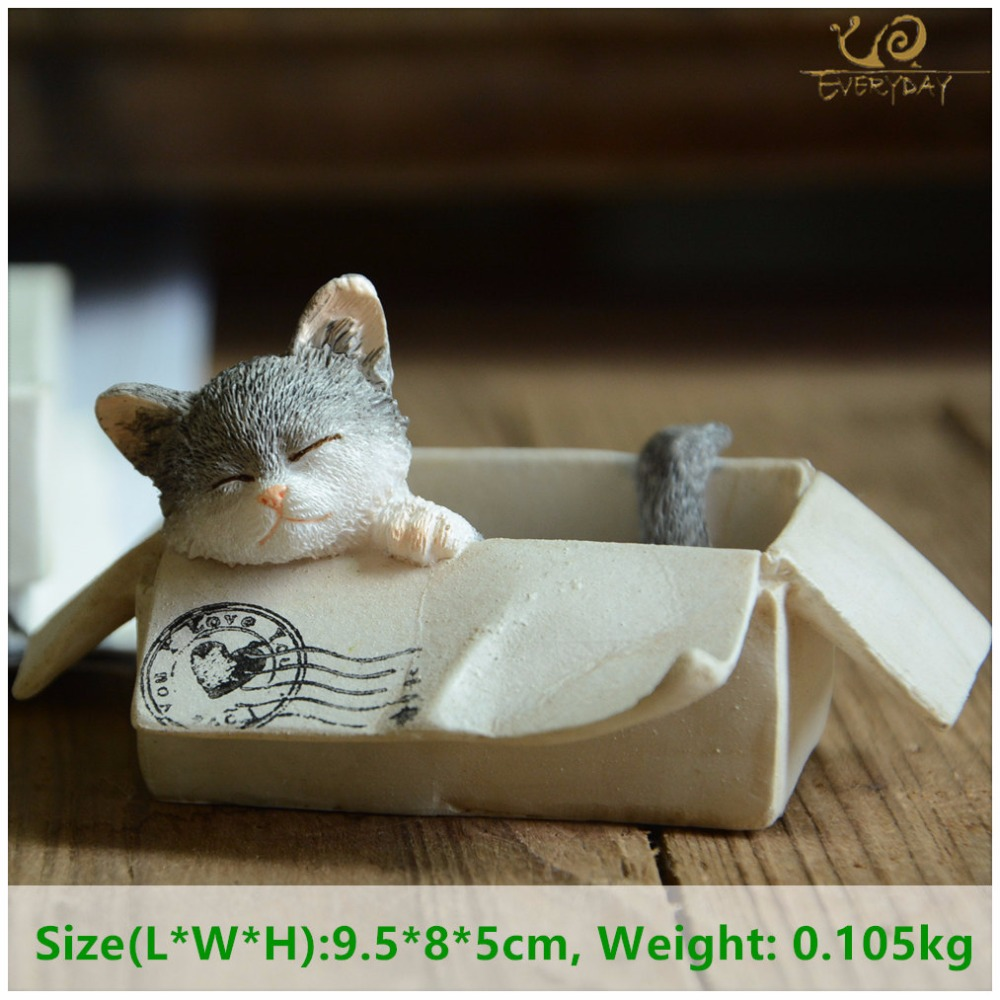 Everyday Collection easter kawaii cat home decoration accessories animal figurines maneki neko sculpture miniature fairy garden