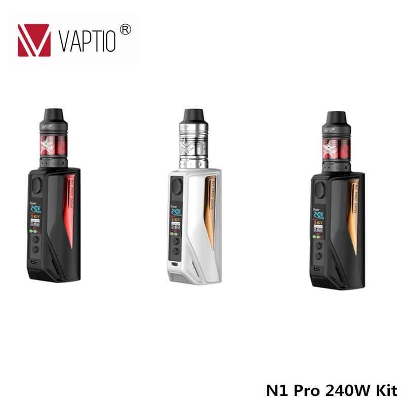 Electronic Cigarette Vaptio N1 Pro 240W kit 2.0 Box Mod 240W with 2ML Frogman Tank Vape Updated from E-Cigarettes N1 Pro 200W 1 vp500 38 vp107 n vape 220v 110v
