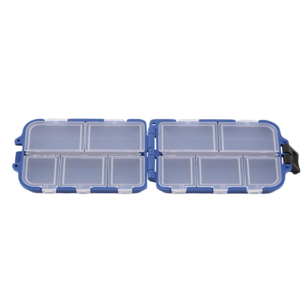 Promoción de ventas de Pesca Tackle Box 10 Compartimentos caja de la Mosca Pesca