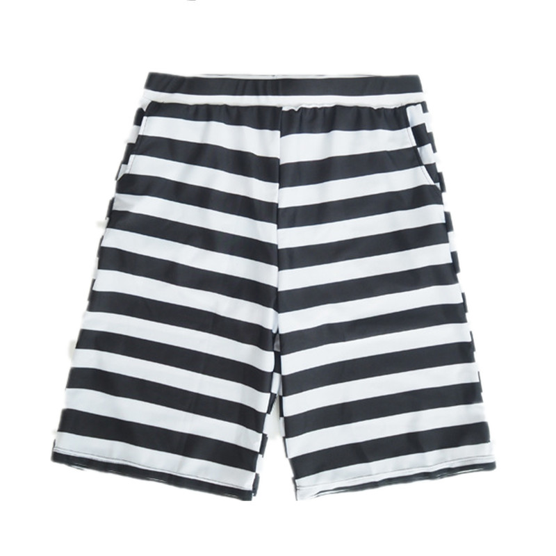 Funfeliz Men Swimwear Nylon Swimming Trunks for Men Print Striped Boys Bathing Suits M 2XL Men Swimming Board Shorts with Pocket in Men 39 s Trunks from Sports amp Entertainment
