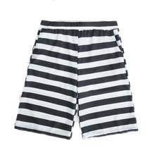Funfeliz Men Swimwear Nylon Swimming Trunks for Men Print Striped Boys Bathing Suits M-2XL Men Swimming Board Shorts with Pocket color block splicing design geometric print swimming trunks for men