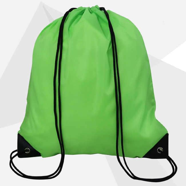 Высококачественная сумка на нейлоновых шнурках, Пляжная Женская и мужская сумка для хранения в путешествии, рюкзак для подростков, одноцветные сумки