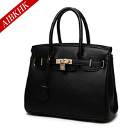 New Fashion Litchi Pattern Women Handbags Ladies Shoulder Bags High Quality Female Girl Lager European Famous
