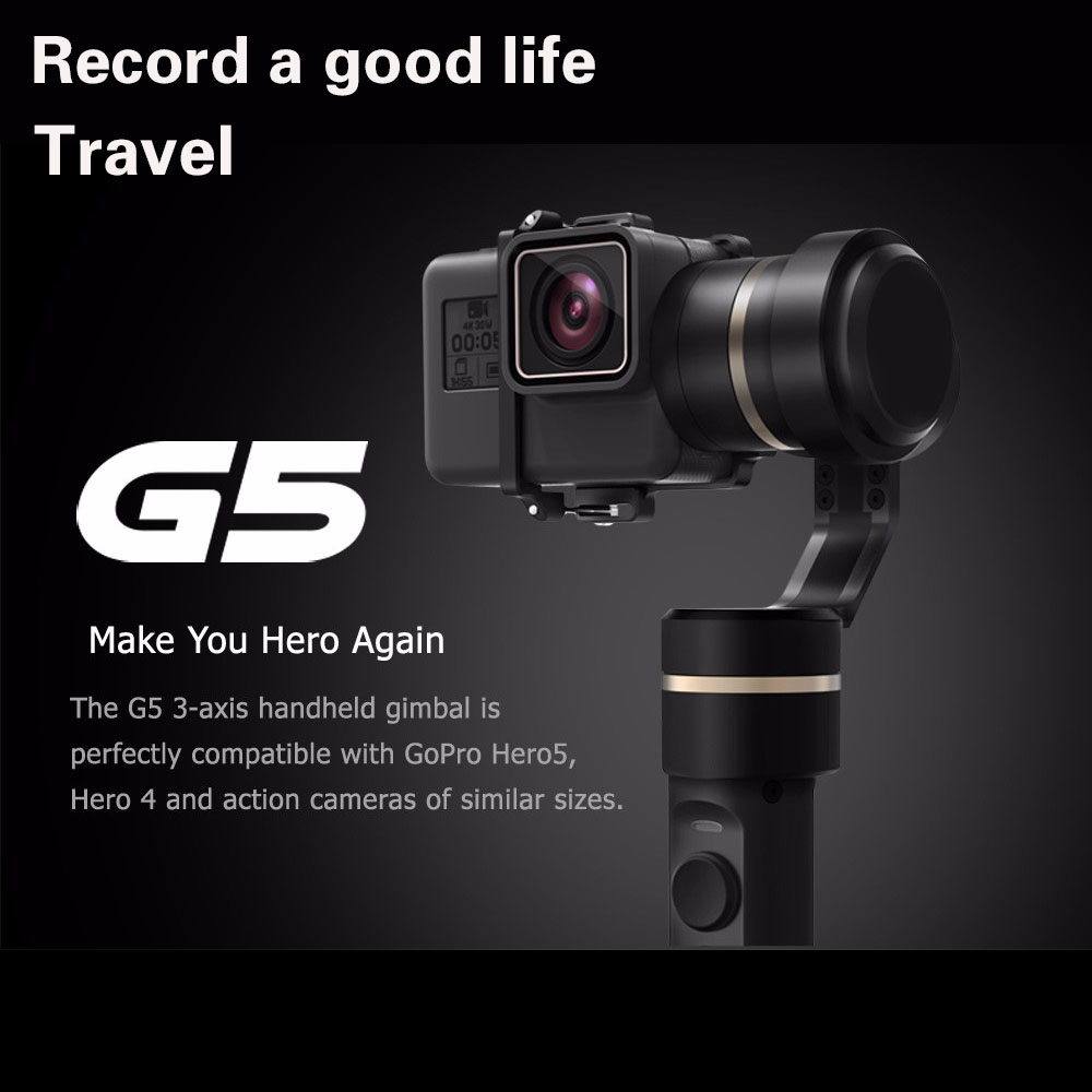 FeiyuTech G5 3 AXIS Handheld Gimbal Splashproof Humanized designed selfie frame for GoPro HERO5 HERO 6/5/4/3+/3/AEE action feiyutech feiyu fy g5 3 axis handheld gimbal splashproof for gopro hero 5 4 3 3 xiaomi yi 4k sj aee action cameras bluetooth