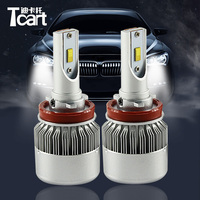 Tcart 1Set Auto Led Headlight Headlamp DIPPED Low Beam Light C6F 6000K White 36W H8 H9
