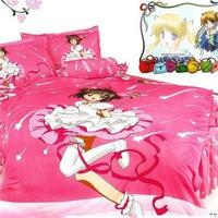 Japanese Anime Characters Bedding Sets Twin Size Cotton Bed Sheets Pillowcase CARDCAPTOR SAKURA Duvet Cover For