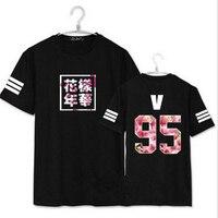BTS Kpop T Shirt Bangtan Boys Tops Brand Graphic Tee Shirt Men Women Summer Letter Printed