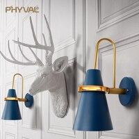 Lâmpada de parede macaron criativo luminary firme segurança engrossar 12cm ferro base14cm ferro abajur sem montagem necessária e27 frete grátis