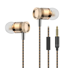 Noise Cancelling Stereo Bass 3.5mm Metal Earphone Headphones For Mobile Phone With Microphone Amazing Sound Gift Package