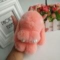 Автомобильный Брелок мини-Натуральный Мех Брелок Кролика Рекс Брелок Кролик Игрушка Кукла Меха Животных Кулон Брелки брелок Сумка шарм