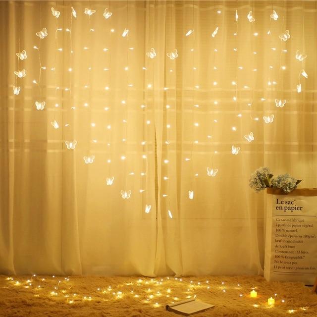 1.5X2M Heart Shape LED String Lights Christmas Light Outdoor Decor Lamp  Garden Proposal Valentineu0027s Day