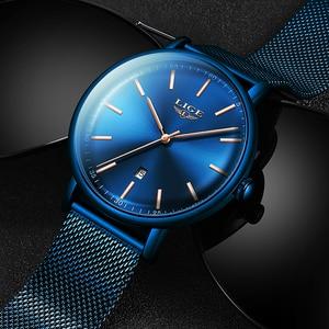 Image 4 - LIGE Womens Watches Top Brand Luxury Waterproof Watch Fashion Ladies Stainless Steel Ultra Thin Casual Wristwatch Quartz Clock