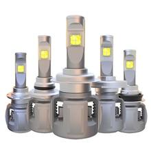 цена на H7 H11 H9 9005 9006 HIR2 9012 D1S D2S D3S D4S LED Headlights H4 9003 Hi/Lo LED Headlight Bulbs Conversion Kit 120W 12000LM 6000K