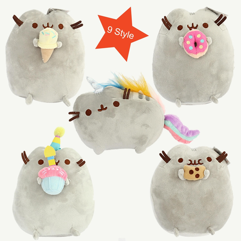 9 Style Pusheen Cat Stuffed Animal Doll Plush Cat Toys Unicorn Toy for Children Ty Cheap-toys for Kids Room Decorations ty beanie babies chipper the chipmunk plush toy stuffed animal