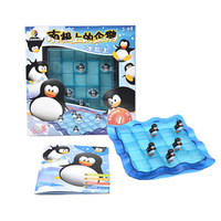 Hot Plastic Toy 3D Building Model The South Pole of Penguins Maze Puzzle Game Baby Kids Preschool Educational Learning Gifts