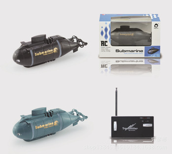 цена на Mini RC Submarine Speed Racing boats Outdoor Adventure Pigboat Model Submarine 40MHz Remote control Boat Toy Gift for kids