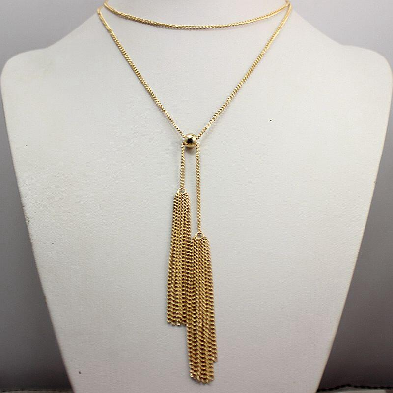 US $1.05 30% OFF|Statement necklace Tassel Pendant Necklace Gold Silver Plated Bohemia collares mujer Colar Fashion Collier for Women 2016-in Chain Necklaces from Jewelry & Accessories on AliExpress