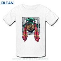 GILDAN 2017 New Summer Men Hot Sale Fashion Printed Men's Schoolboy Q Stencil Tee Shirt Custom Crew Neck T-shirt Us L White