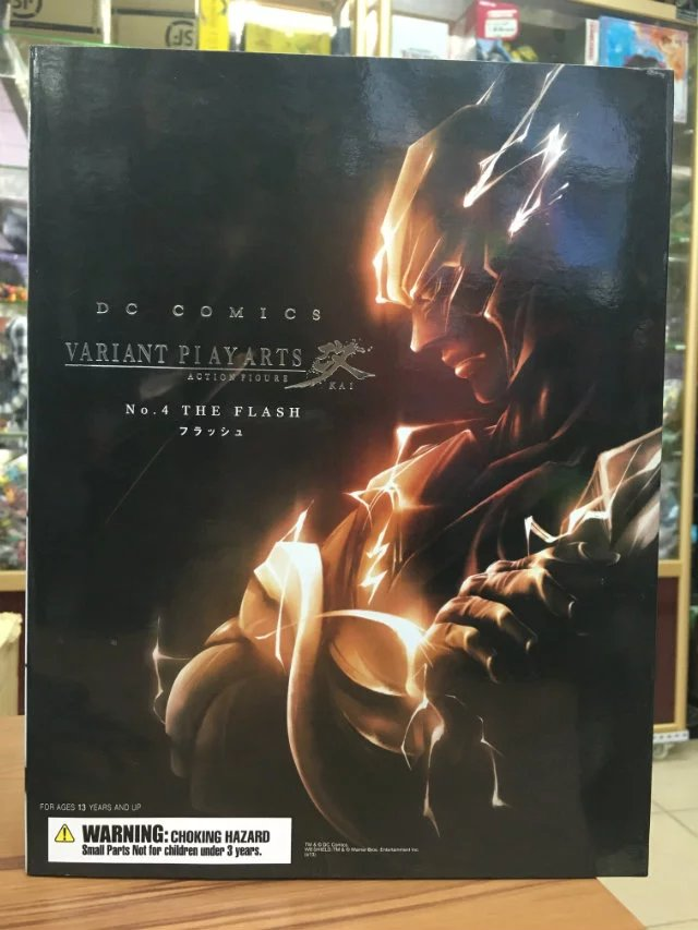 New DC Comics Super Hero The Flash Square Enix Variant Play Arts Kai Action Figure Statue Model Toys metal gear solid v the phantom pain play arts flaming man action figure super hero