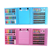 176pcs Kids Gift Creative Painting Graffiti Paint Brush Set Children Daily Entertainment Toy Art Sets With Easel