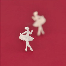 New Arrival Personality 925 Silver Fashion Jewelry Ballet Dinosaur Accessories Female Anti-allergic Earrings  SE105