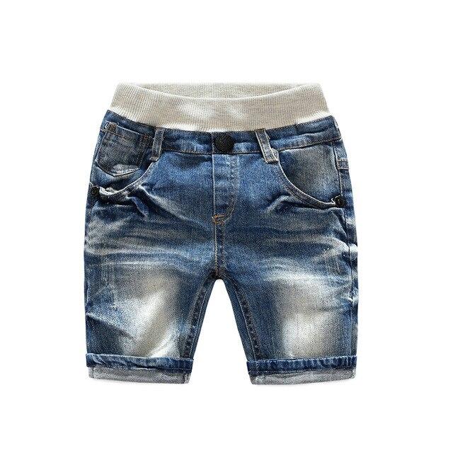 598f8926c0828e 2017 nuove ragazze dei ragazzi Cinque dei jeans corti estate del cotone di  Modo Lavato pantaloni