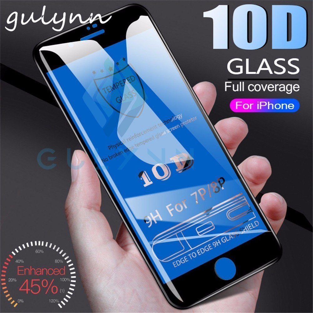 10D Curved Full Cover Tempered Glass For iPhone X Xs XR Max Premium Screen Protector On The For iPhone 7 8 6 Plus Glass Film 9H