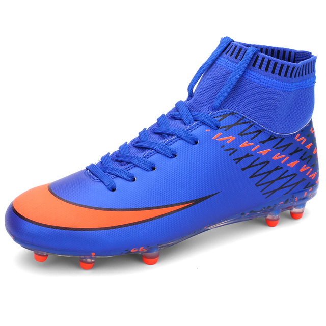 04411ec79 Men Soccer Shoes Indoor Futsal Shoes with Socks Professional Trainer TF  Football Boot High Ankle Zapatillas Futbol Sala Hombre