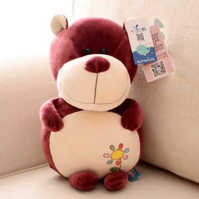Dos desenhos animados urso criativo sobre 22 cm brinquedo de pelúcia lindo urso de pelúcia boneca de brinquedo do miúdo presente de Natal de algodão muito suave b2229