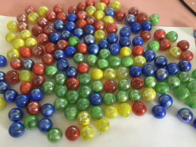 US $15 99 |FREE SHIPPING 20pcs 16mm solid colour glass marble ball 1 6cm  colourful glass ball for home decoration SGS approved-in Toy Balls from  Toys