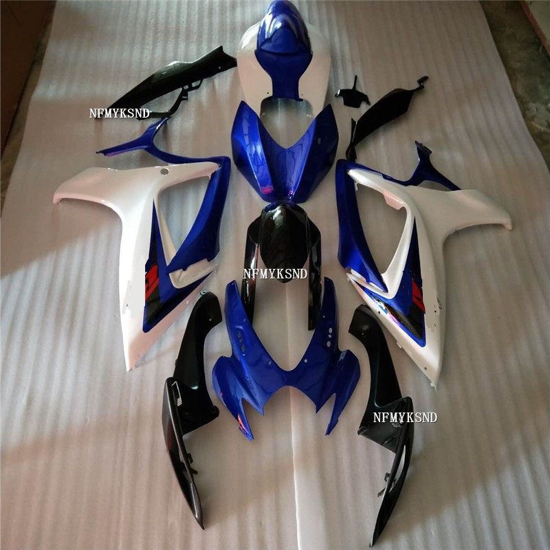 Nn- Top <font><b>Fairing</b></font> <font><b>KIT</b></font> for SUZUKI <font><b>GSXR</b></font> <font><b>600</b></font> 750 K6 06 07 GSXR600 GSXR750 2006 <font><b>2007</b></font> Matte BLUE black White Motorcycle <font><b>Fairings</b></font> set image