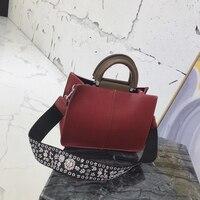 Брендовые модные женские туфли однотонные кожаные сумки женские сумки на ремне Для женщин сумки большой Ёмкость сумка 2018 новые дизайнерски