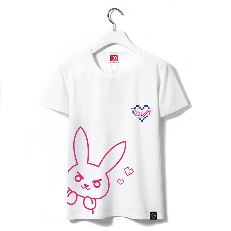 Dva Women Short Sleeve T Shirt Female 100 Cotton Ladies White T Shirt D va Girls