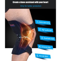 MQUPIN 1pair Sport Spring knee strap Mountain climbing running Knee booster Bone careknee pad Knee joint protection band