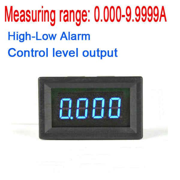 10A DC ampèremètre alarme haut-bas DC numérique ampèremètre Buzzer courant RGB LED panneau d'indication moniteur intégré shunt 5 v 12 v c