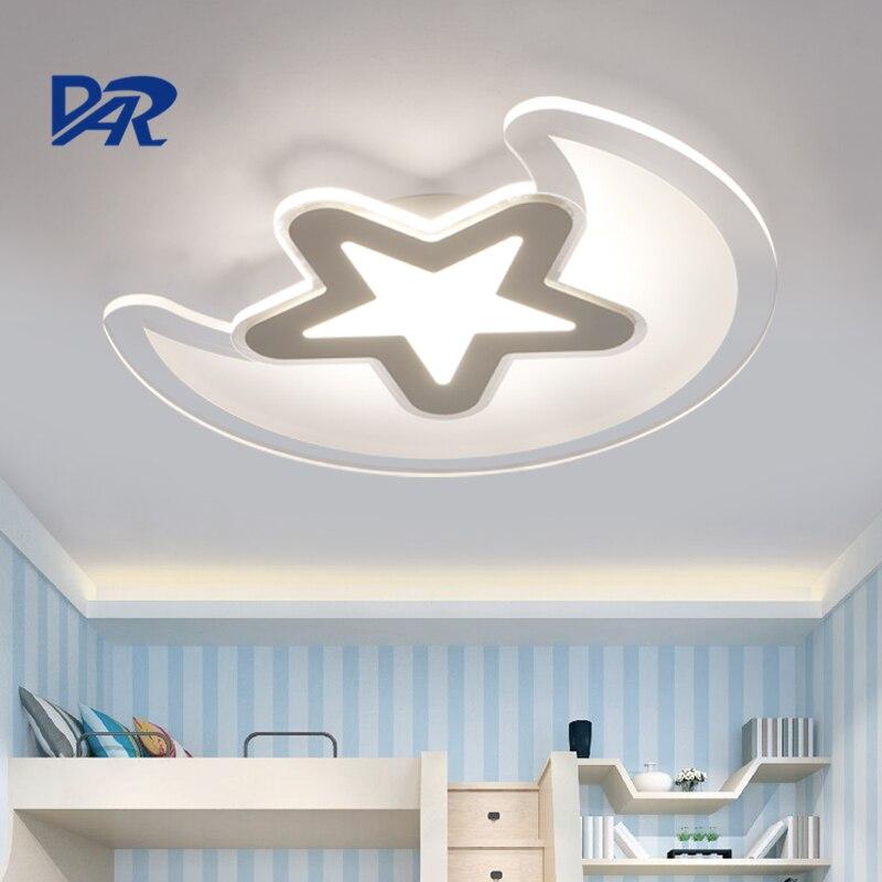 Beautiful Moon&Star Children Room Lamps 30W/37W/43W/54W Acrylic Modern Led Lighting Fixtures abajur lampen avize luzes de teto