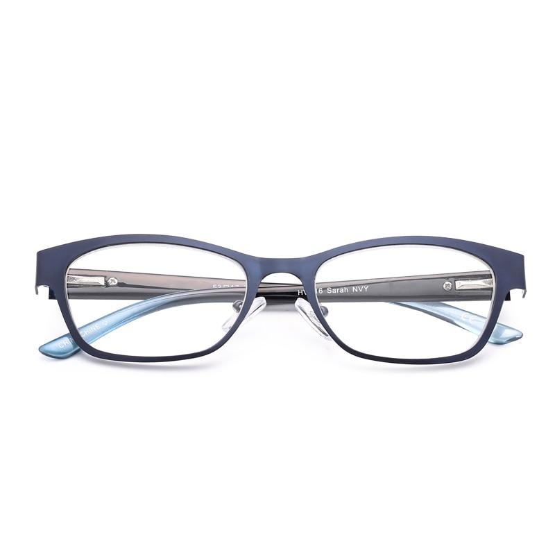 Blue Vintage Frauen Lesebrille Hohe Klare Linse Glas Full-Frame ...