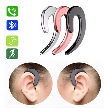 For Phone Bluetooth Headset With Mic Earpieces Earhook Bone Conduction Wireless Bluetooth Earphone For iPhone Android bluetooth bone conduction earphone headset sports headphone wireless outdoor stereo with microphone for iphone samsung android page 6