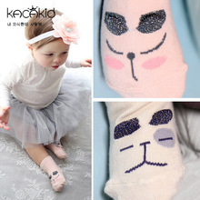 Super Cute Kids Kacakid Animal Theme 3d Eye Pattern Newborn Baby Anti-slip Footwearleg Warmer Baby Socks Meias