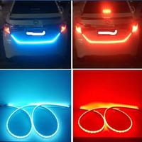 Styling RGB 120cm Car LED Strip Lighting Rear Trunk Tail Light RGB Dynamic Streamer Brake Turn