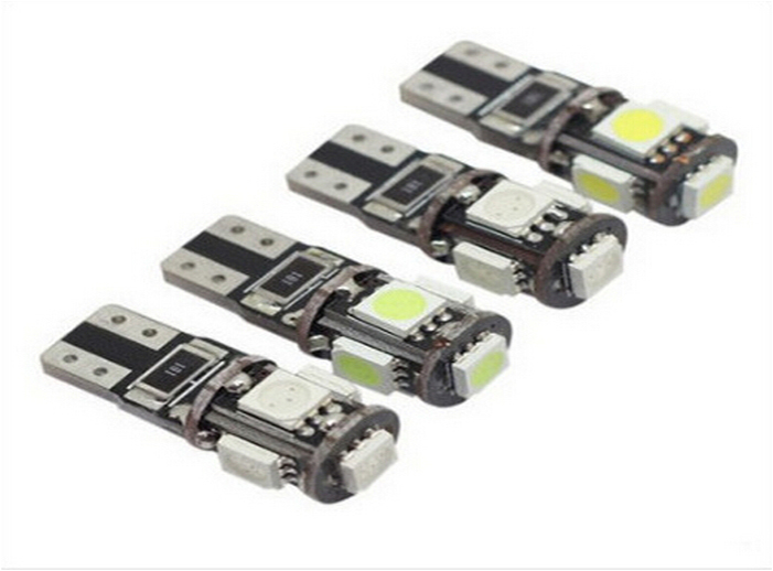 100X T10 W5W 194 5050 5 smd canbus bulb light no OBC error 12v Car LED SMD Light Canbus lamps lights blubs new t10 6 smd 5050 194 w5w 501 led car light colourful led canbus error interior light bulb remote control dc 12v