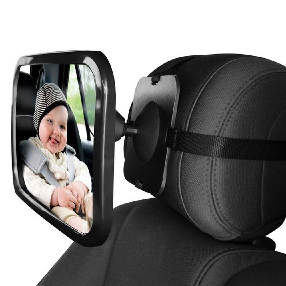 Asiento trasero ajustable para el automóvil Vista de seguridad Espejo para bebé en el asiento trasero Mirando hacia el interior del automóvil Monitor para bebés y niños Asientos de seguridad en reversa Espejo