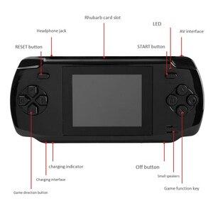 Image 3 - Powkiddy S600 2.8 אינץ משחק קונסולת מובנה 68 משחקים קלאסיים 8 סיביות Av החוצה וידאו כף יד Gamepad שחור החדש