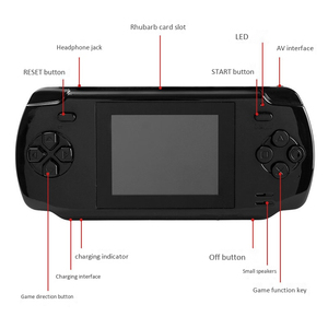 Image 3 - Powkiddy S600 2.8 Inch Game Console Built In 68 Classic Games 8 Bit Av Out Video Handheld Gamepad Black Newest